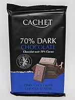 Шоколад Cachet Extra dark chocolate 70% Cacao 300 гр.