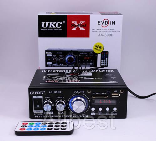 Усилитель звука UKC 699D FM USB 2x30 Вт