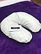 Подушка під голову клієнта зі шкірозамінника(синтепон) біла, фото 2