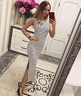 Платье из вискозы в полоску длиной миди 33031594 400, фото 1