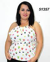 Летняя майка батал 52 54 56, фото 1