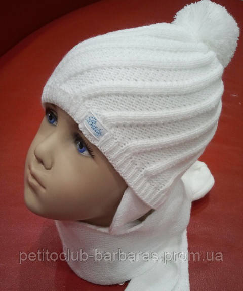 Комплект зимний Baby: шапка, шарф, варежки-царапки