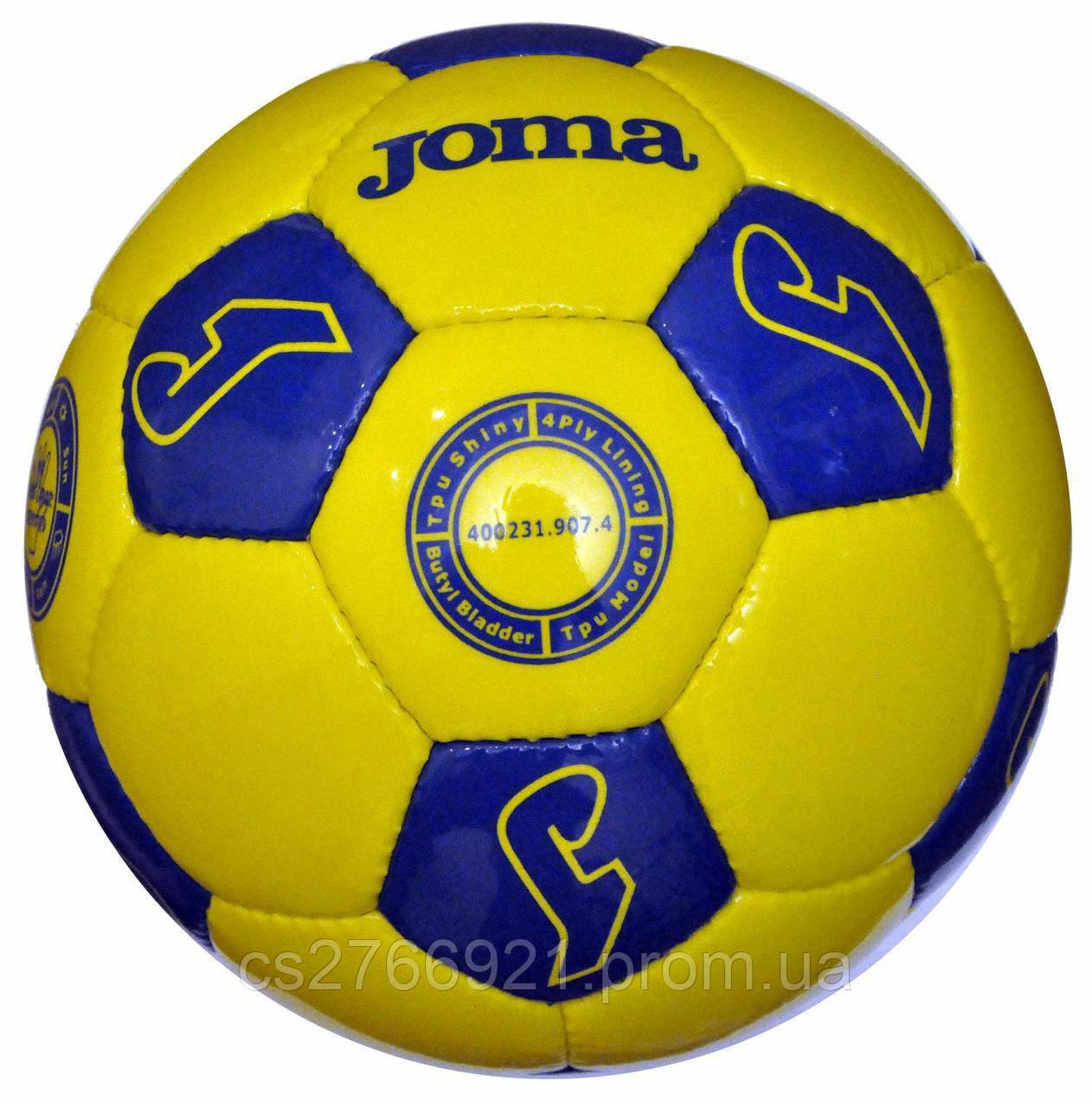 Мяч футбольный INTER желто-синий №5