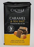 Шоколад Cachet milk chocolate 32% Cacao caramel & sea salt 300 гр.