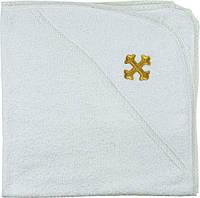 Полотенце для крестин (Крыжма) с капюшоном Руно