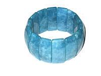 Голубой браслет на руку аквамарин