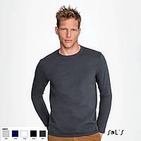 Мужские футболки с длинным рукавом IMPERIAL LSL, Франция, 100% полугребной Ringspun хлопок плотные - 190 г/м2