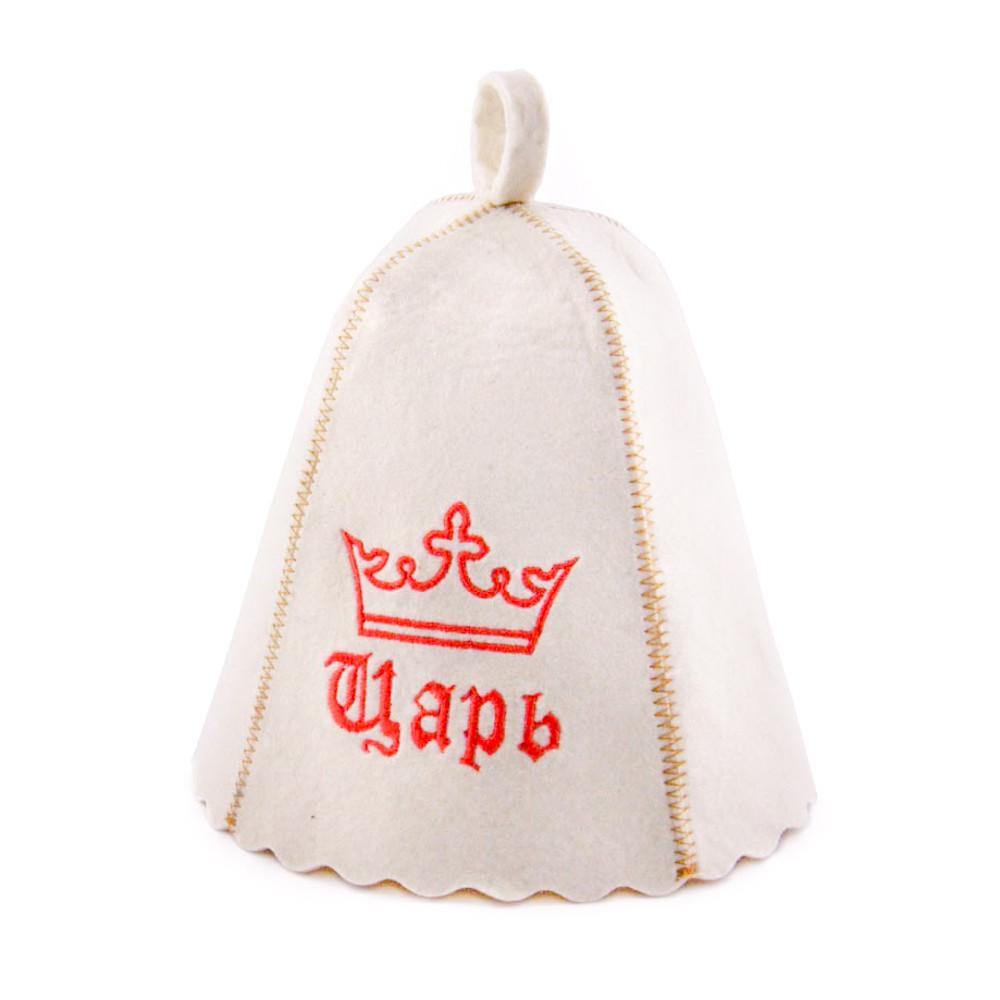 Шапка для сауни з вишивкою 'Цар ', Saunapro