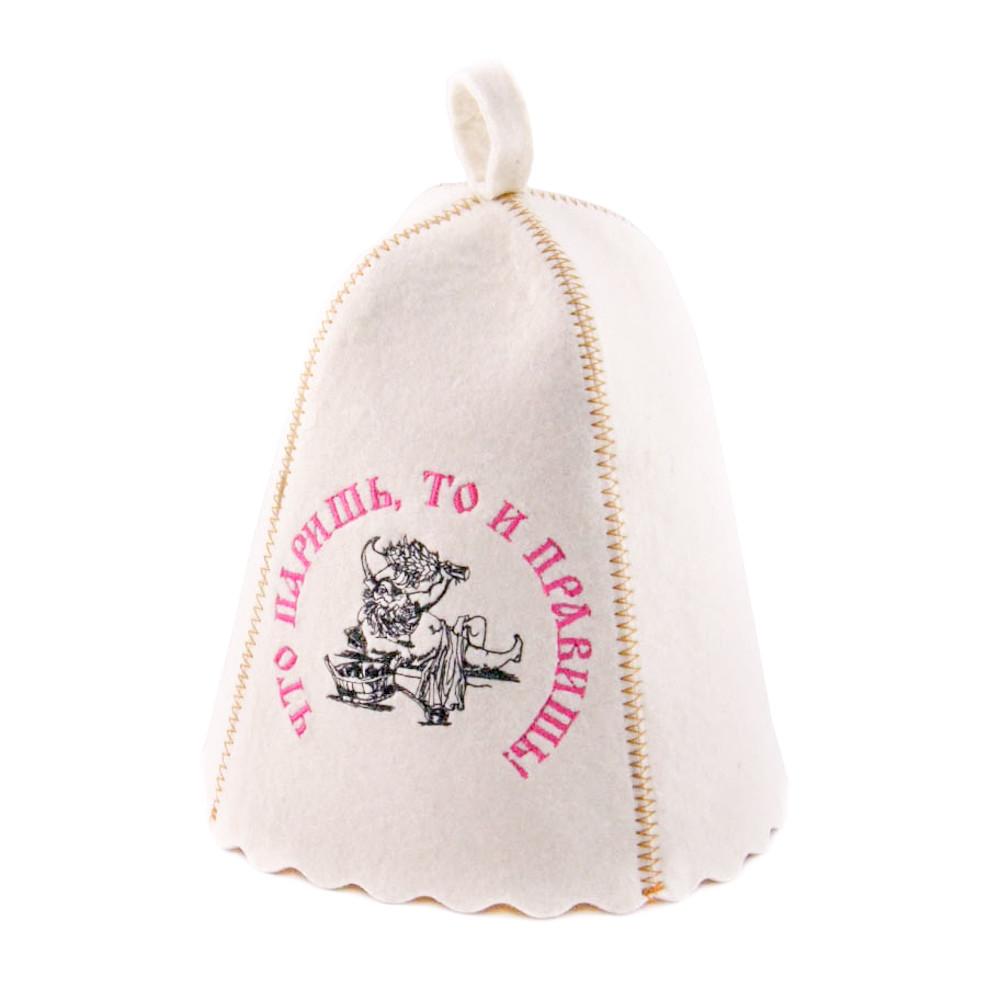 Шапка для сауны с вышивкой 'Что паришь, то и правишь! ', Saunapro
