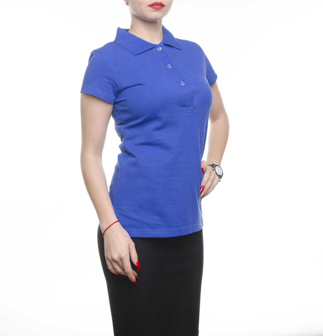 Bono Женская футболка Поло синий электрик 400127