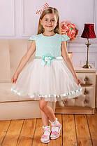 Нарядное летнее платье на девочку 80, 92, 98, 104 см