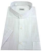Мужская рубашка с коротким рукавом  №10-34 - Flamli белый