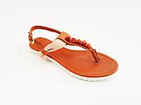 Женские кожаные сандалии на плоской подошве Pandora 255