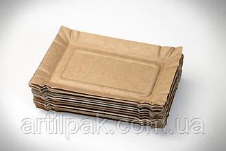 Тарілка паперова 175*110 КРАФТ фасовка 50шт