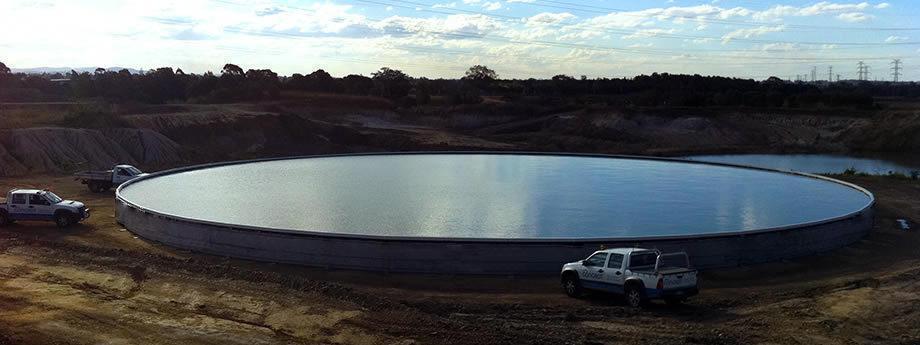 Открытая металлическая емкость «ГидроБак» 1000 м.куб.