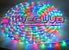 Разноцветная новогодняя гирлянда Дюралайт multi 10 метров 4 жильный, фото 2