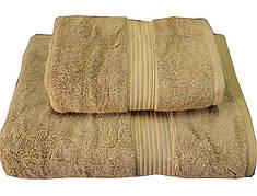 Набор махровых полотенец Galata темно-бежевый