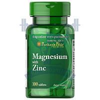 Puritan's Pride Magnesium with Zinc маний цинк комплекс минералов от головной боли