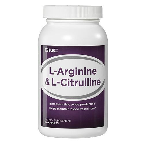 Аргинин GNC L-Arginine & L-Citrulline 120 caps