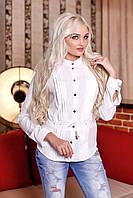 Блуза белая Восторг А2 Медини 46-52 размеры
