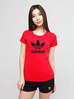 Женский комплект Adidas футболка+шорты