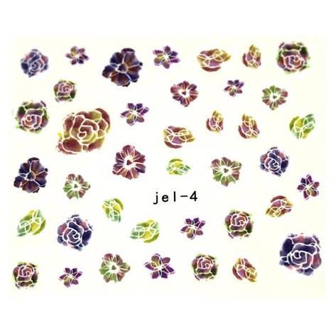 KATTi Наклейки водные JEL 04 цветы бутон, фото 2