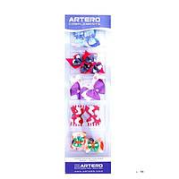 Бантики разноцветные на резинках ARTERO  ( 10 шт )