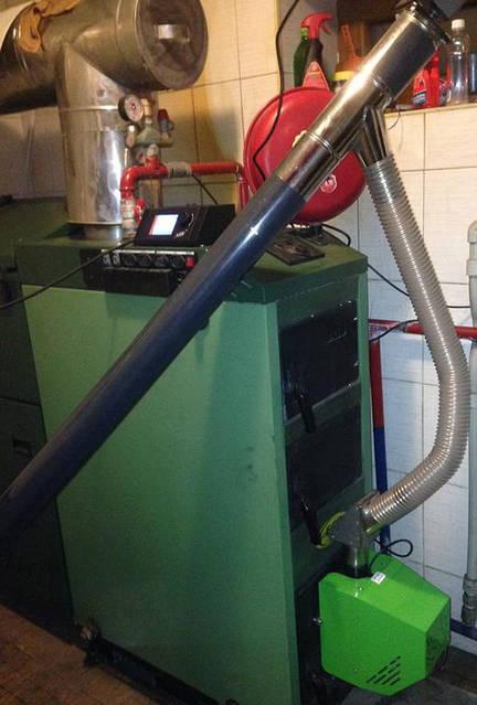 Установка пеллетной горелкой Air Pillet 15 кВт с автоматикой BIO PID на котёл SAS 14 кВт. 20