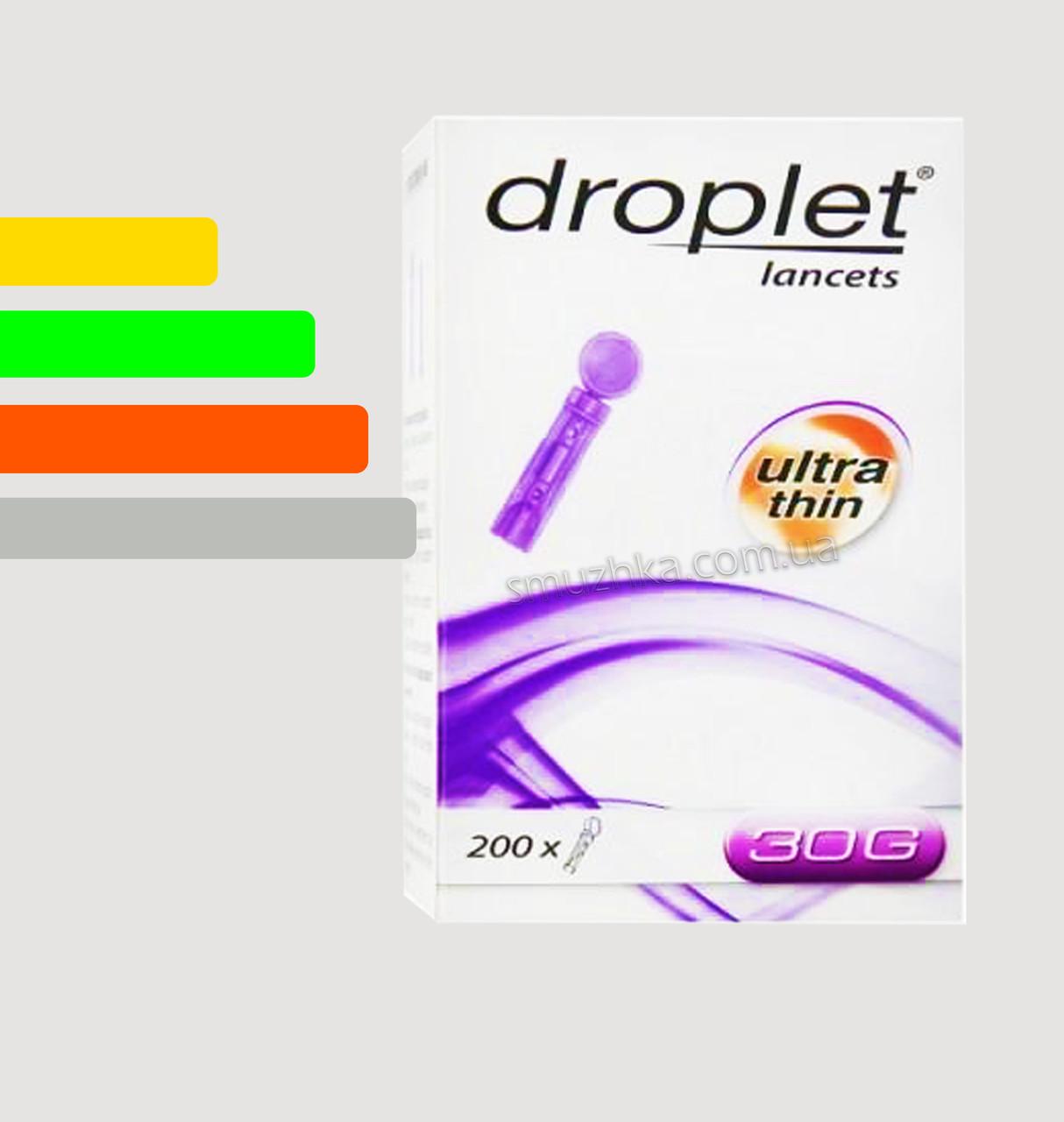 Ланцеты Дроплет #200 - для Файнтест, Онкол Плюс, Сенсолайт 30G