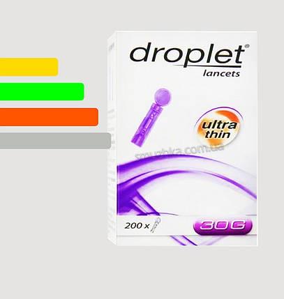 Ланцеты Дроплет #200 - для Файнтест, Онкол Плюс, Сенсолайт 30G, фото 2