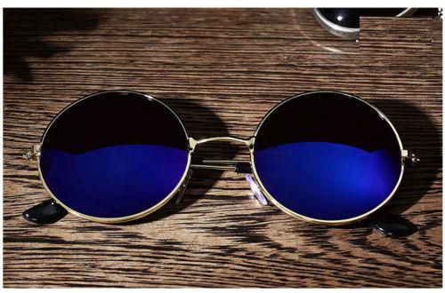 Очки круглые в ретро стиле синие