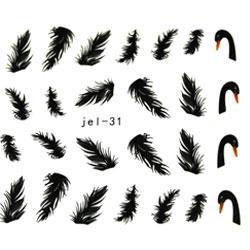 KATTi Наклейки водные JEL 031 цв перья