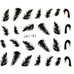 KATTi Наклейки водные JEL 031 цв перья, фото 2
