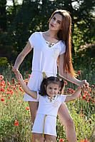 Сарафан туника мама и дочка вискоза