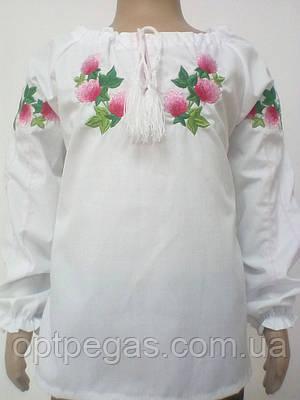 Вишиванка для дівчинки конюшина довгий рукав Батист  продажа 7d64eccf7286c