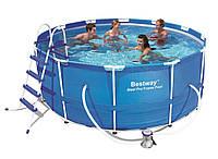 Глубокий каркасный бассейн для дачи BestWay 366х122 см (13898)