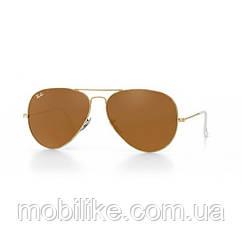 Очки Ray Ban Aviator (Brown Classic)(КОПИЯ) + Подарок!