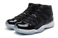Мужские баскетбольные кроссовки Air Jordan Retro 11 (Black/Blue/White), фото 1