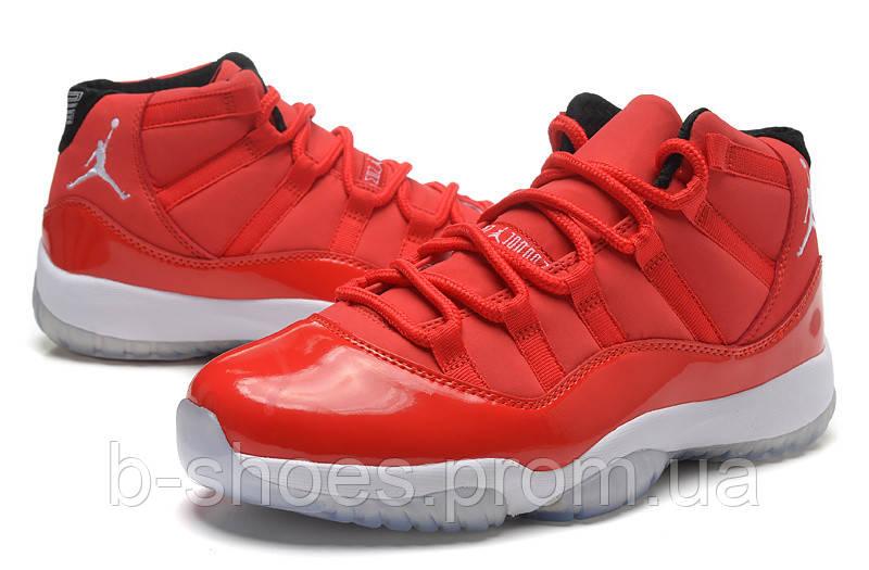 Мужские баскетбольные кроссовки Air Jordan Retro 11 (Red/White)
