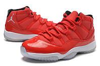 Мужские баскетбольные кроссовки Air Jordan Retro 11 (Red/White), фото 1