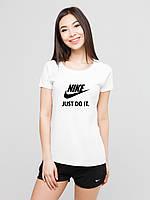 Жіночий комплект Nike Just do it футболка+шорти, найк джаст ду іт