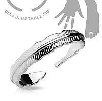 Женское кольцо на фалангу «Перо»
