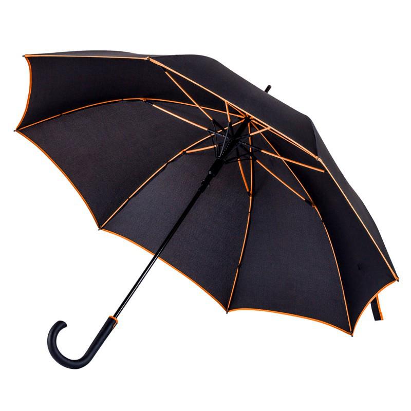 Зонт-трость полуавтомат LINE. Цветная кайма. 4 цвета