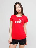 Женский комплект Puma футболка+шорты, пума, фото 1