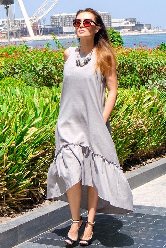 Жіноче плаття максі - Гортензія - сірий