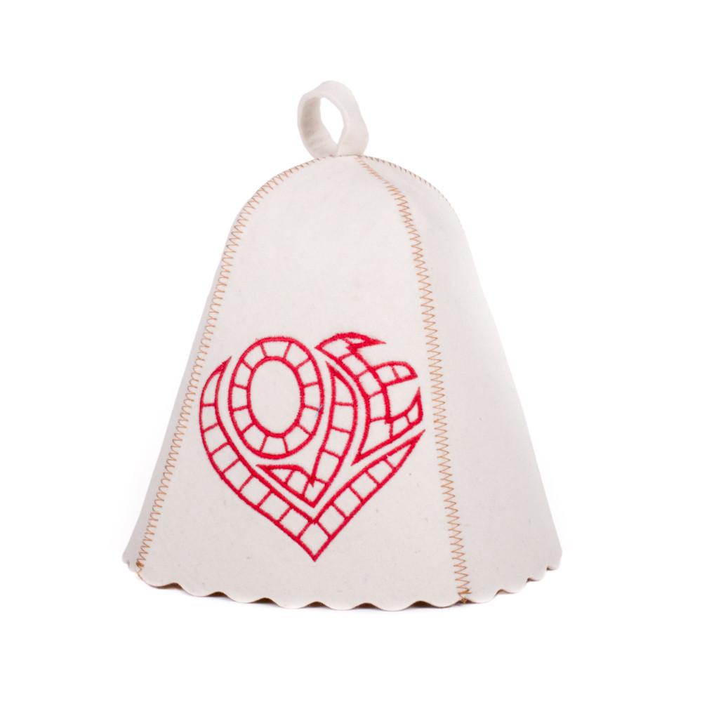 Шапка для сауны с вышивкой Love, Saunapro