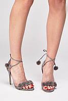 Замшевые босоножки на каблуке Suedette Fluffy