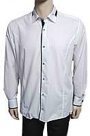 """Рубашка """"Pierre Martin"""". Белая. Приталенная (длинный рукав)"""