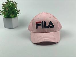 Кепка бейсболка Fila (розовая большое лого)