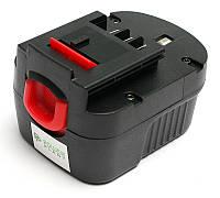 Аккумулятор PowerPlant для шуруповертов и электроинструментов BLACK&DECKER GD-BD-12(B) 12V 2Ah NICD, фото 1